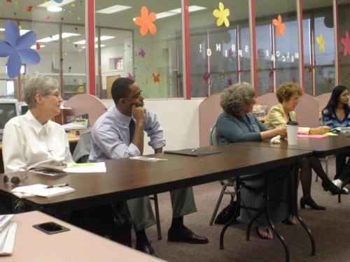 Attendees at the first meeting of the Friends of the Greater Olney Library